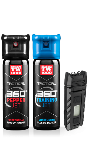 TW1000 TACTICAL Pepper-Jet Classic Twin-Pack inklusive Trainingsspray und UV-Lampe