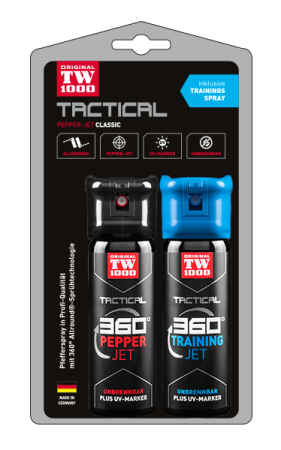 TW1000 TACTICAL Pepper-Jet Classic Twin-Pack inklusive Trainingsspray